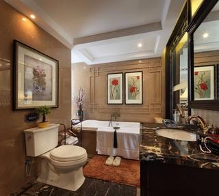 中式古典四居卫生间装修效果图