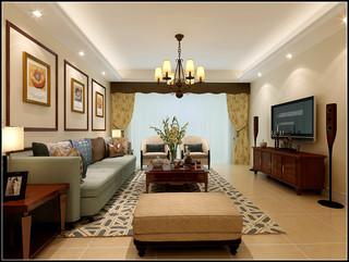 大户型美式客厅每日首存送20