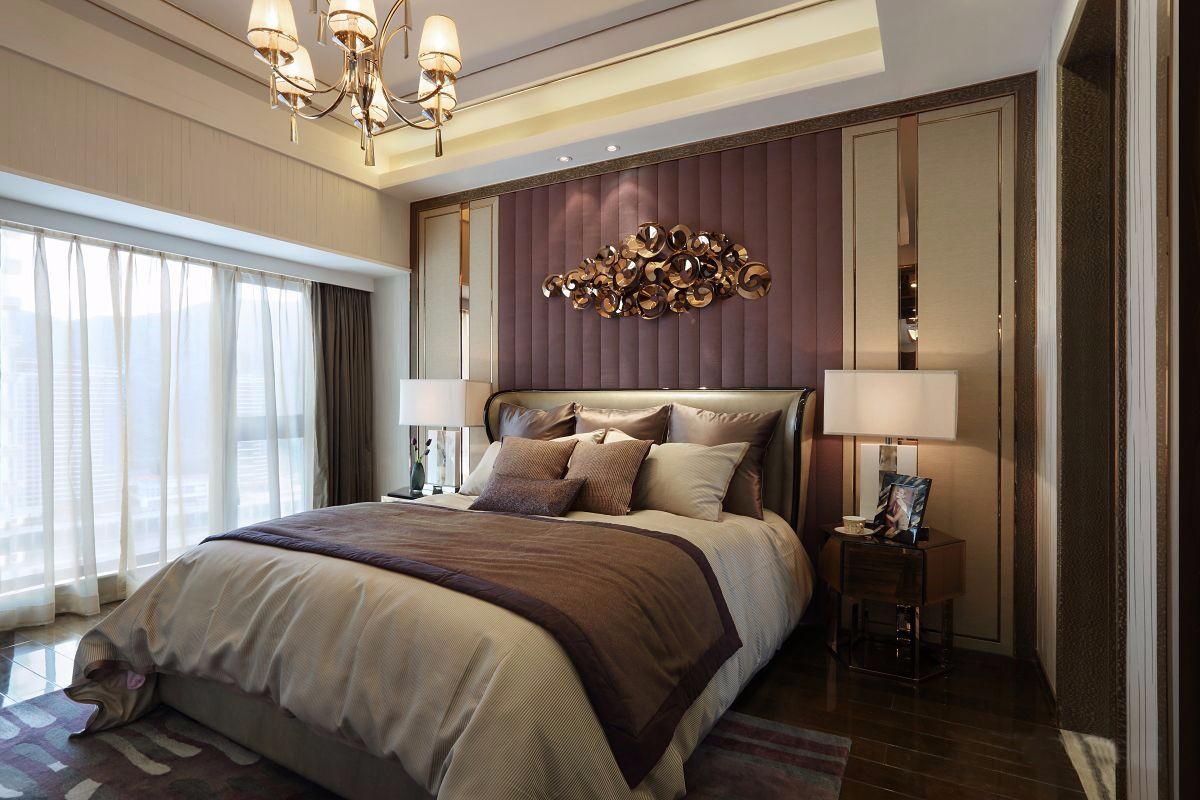 现代港式风格卧室装修效果图
