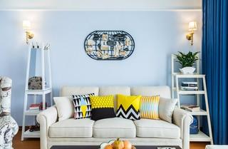 80㎡现代美式两居装修效果图