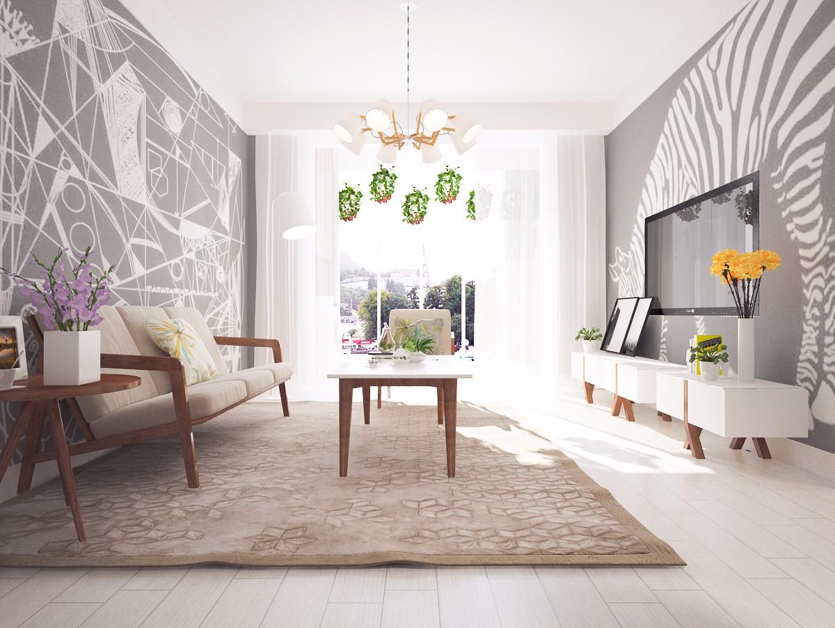简约北欧风格客厅装修效果图
