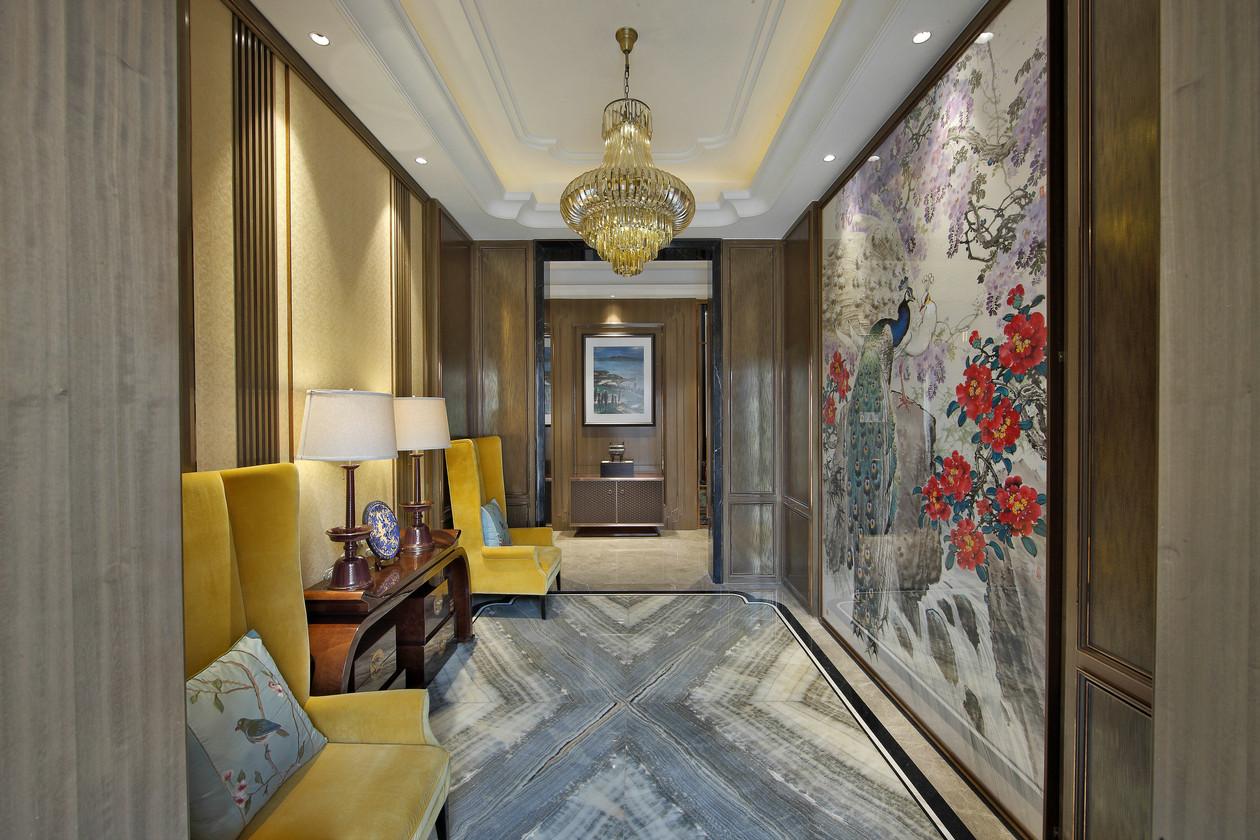新中式风格别墅门厅装修效果图