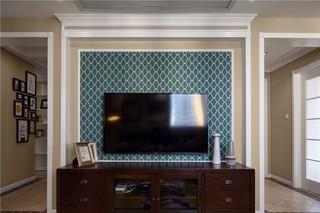 146㎡美式风格电视背景墙装修效果图