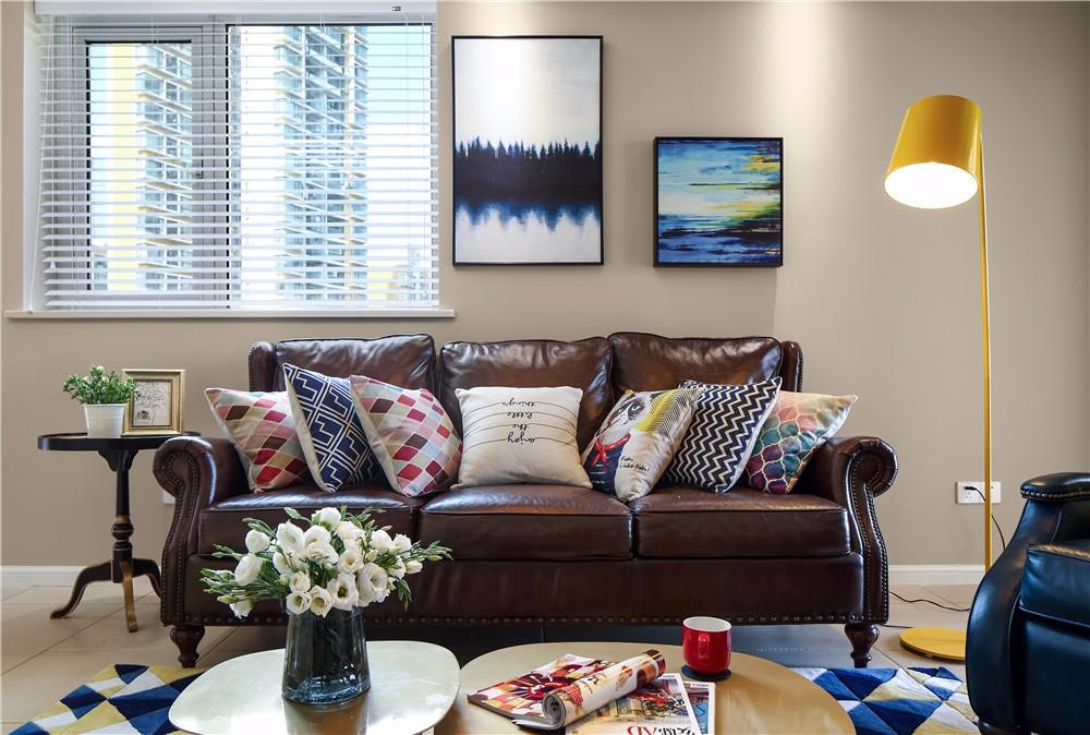 146㎡美式风格装修沙发设计图