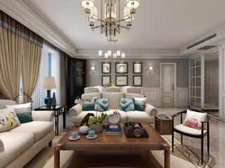 150平米美式风格客厅每日首存送20