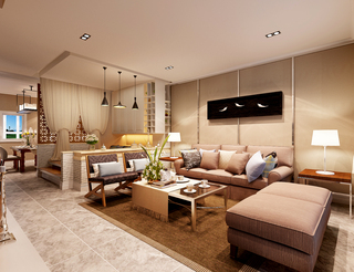 大户型混搭风格客厅装修效果图