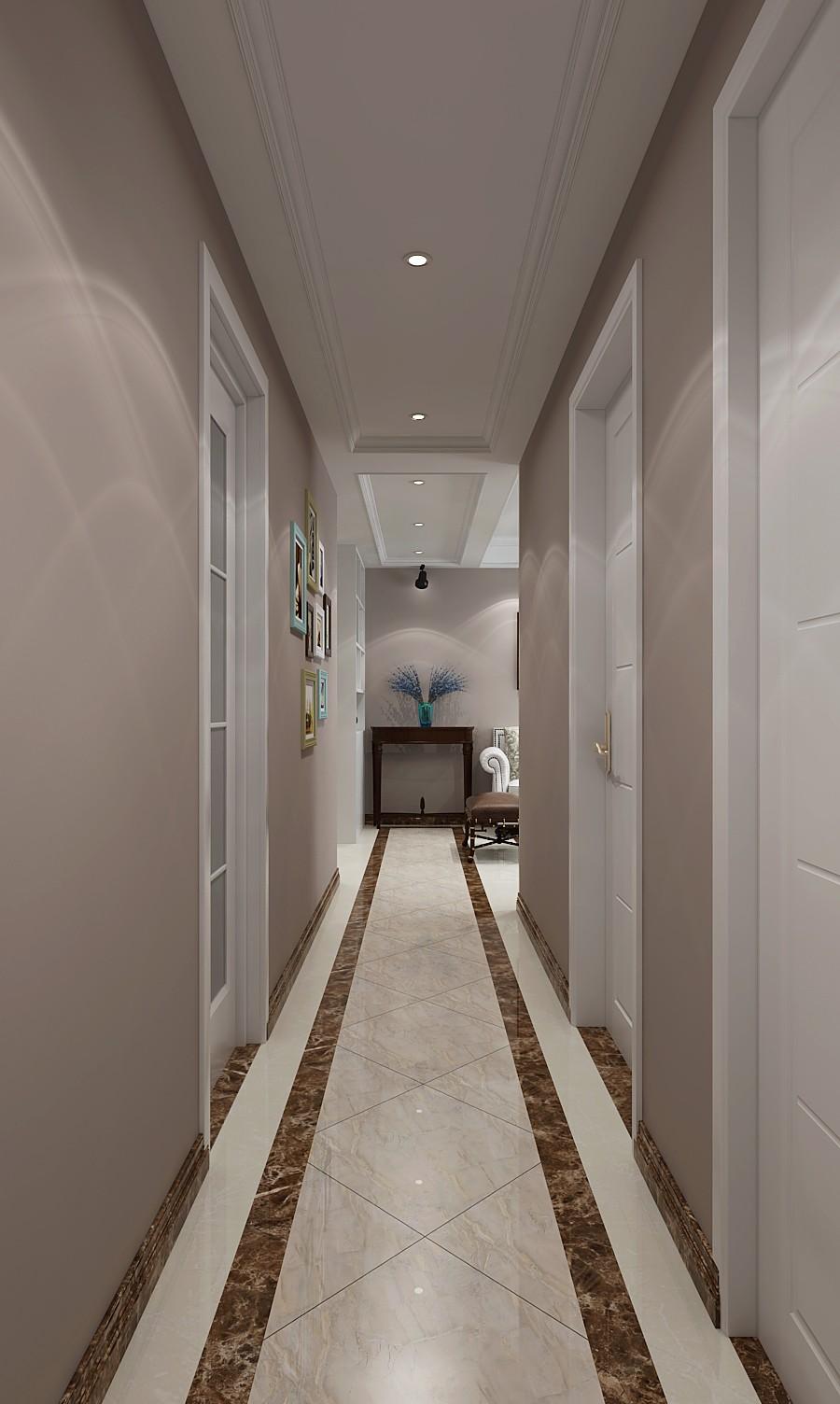90平美式风格走廊装修效果图