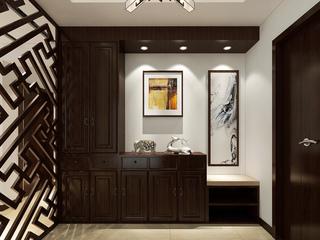 120平新中式三居室玄关装修效果图