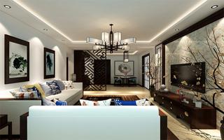 120平新中式三居室装修效果图