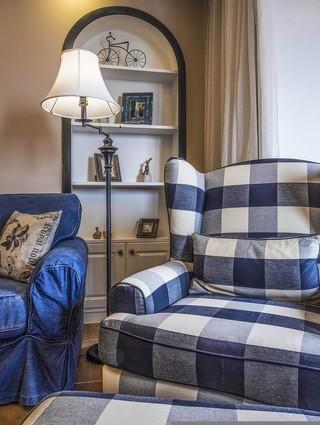 美式复古风三居装修沙发设计图