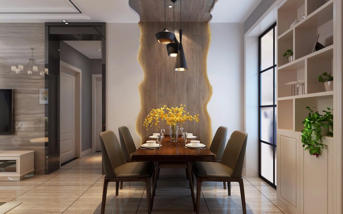 混搭风格二居室餐厅装修效果图