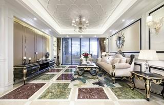 140平新古典风格客厅装修注册送300元现金老虎机图