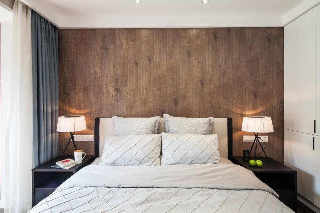 105㎡现代两居床头背景墙装修效果图