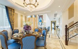 法式奢华别墅餐厅装修效果图
