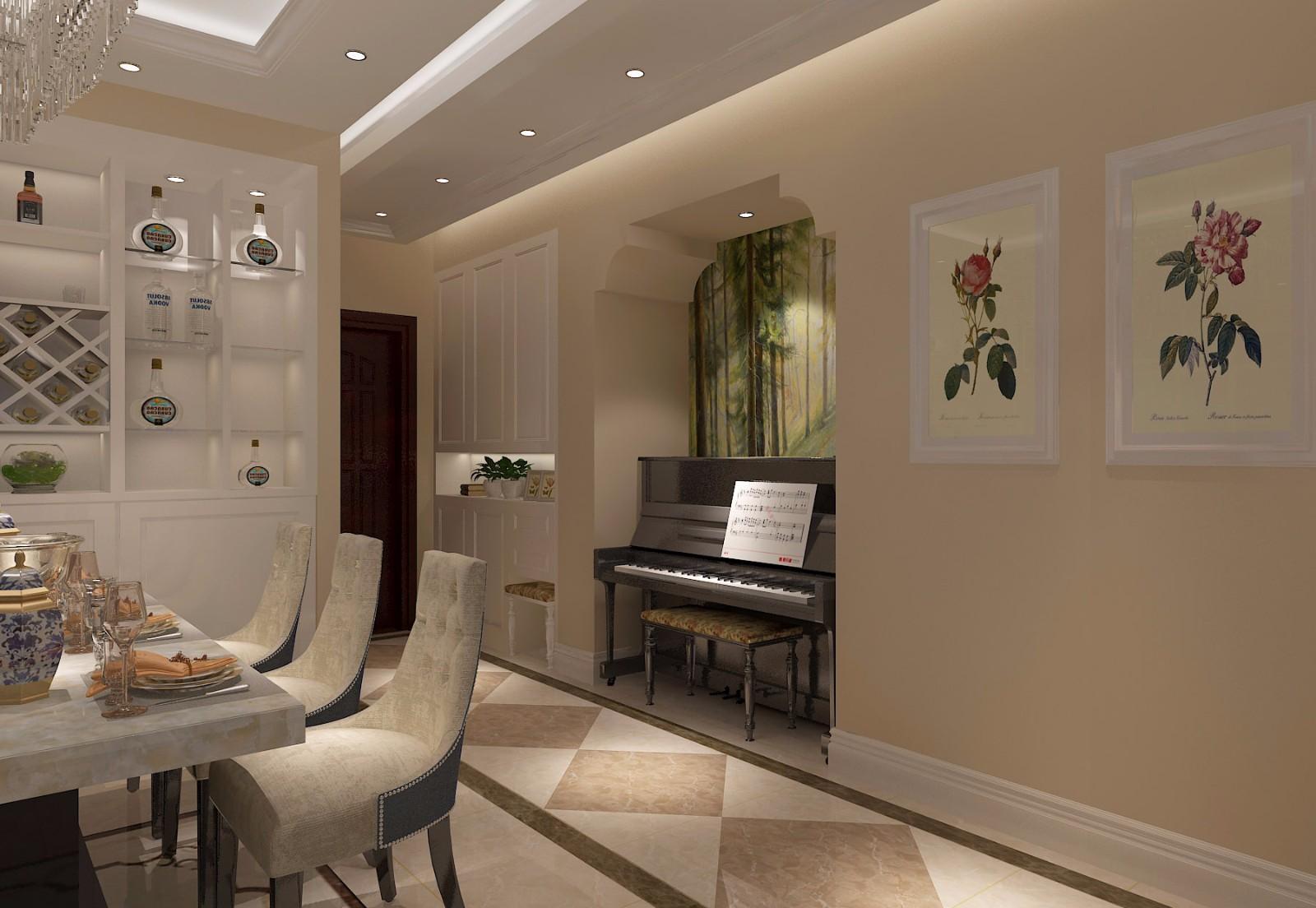 两居室简欧风格走廊装修效果图
