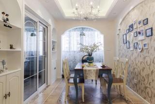 三居室地中海风格餐厅每日首存送20