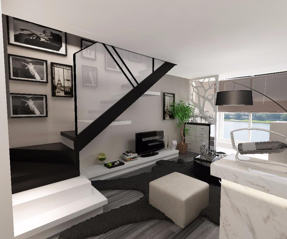复式现代简约楼梯装修效果图