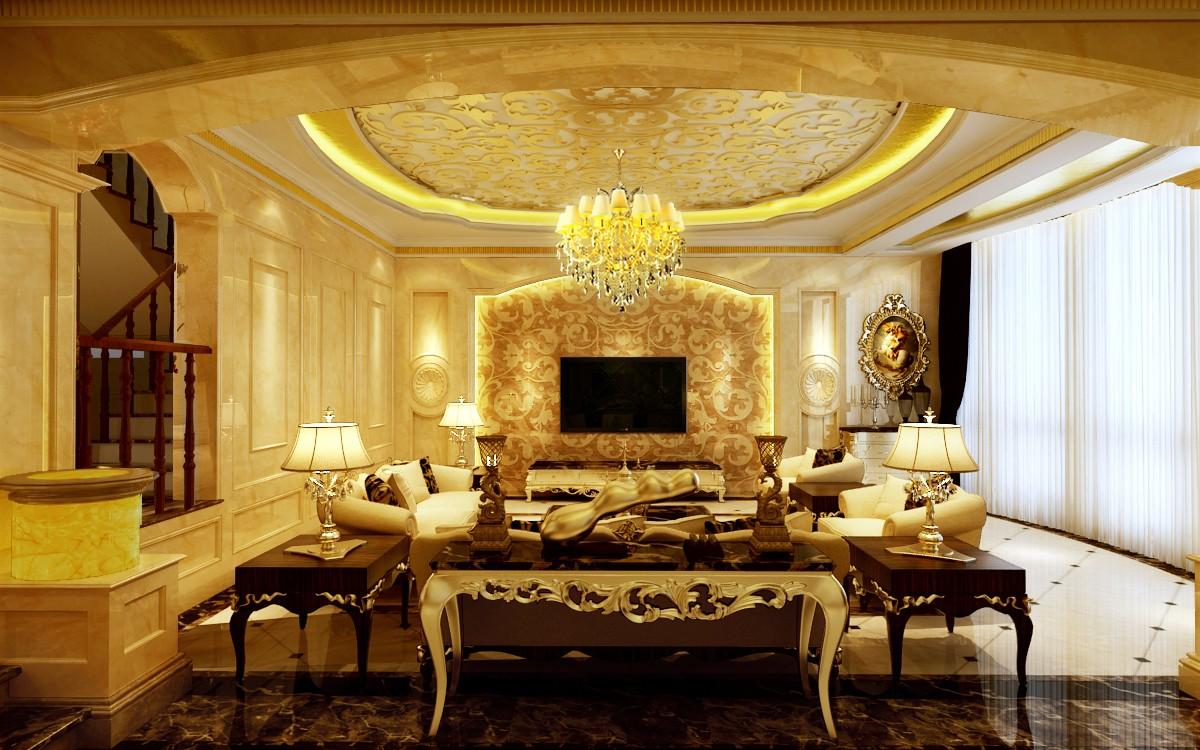 欧式别墅客厅装修效果图