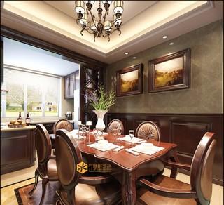 大户型欧美风格餐厅装修效果图
