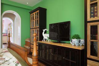 田园风格两居室装修电视柜设计图