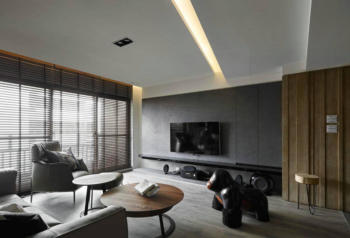 150平现代风电视背景墙装修效果图