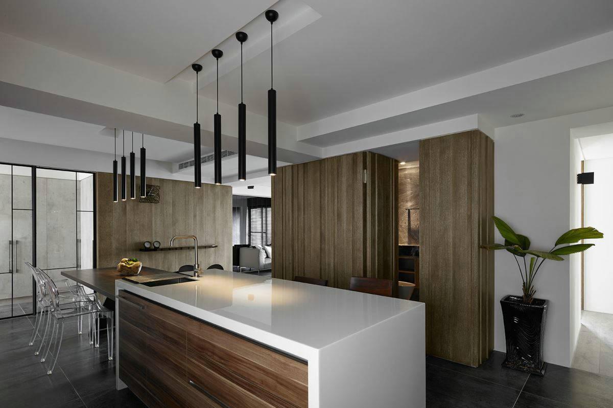 150平现代风厨房装修效果图