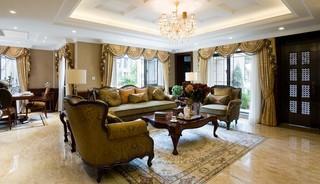 英伦风格别墅客厅装修效果图