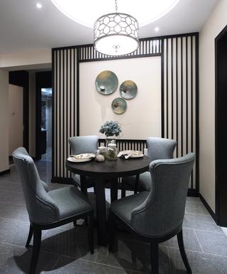 新中式样板房餐厅装修效果图