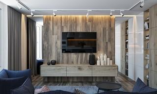 小户型公寓电视背景墙装修设计效果图