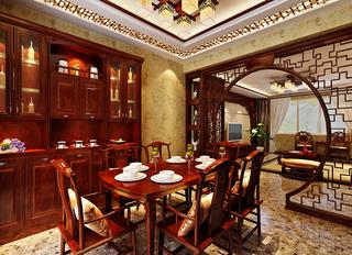 中式古典风格餐厅装修效果图