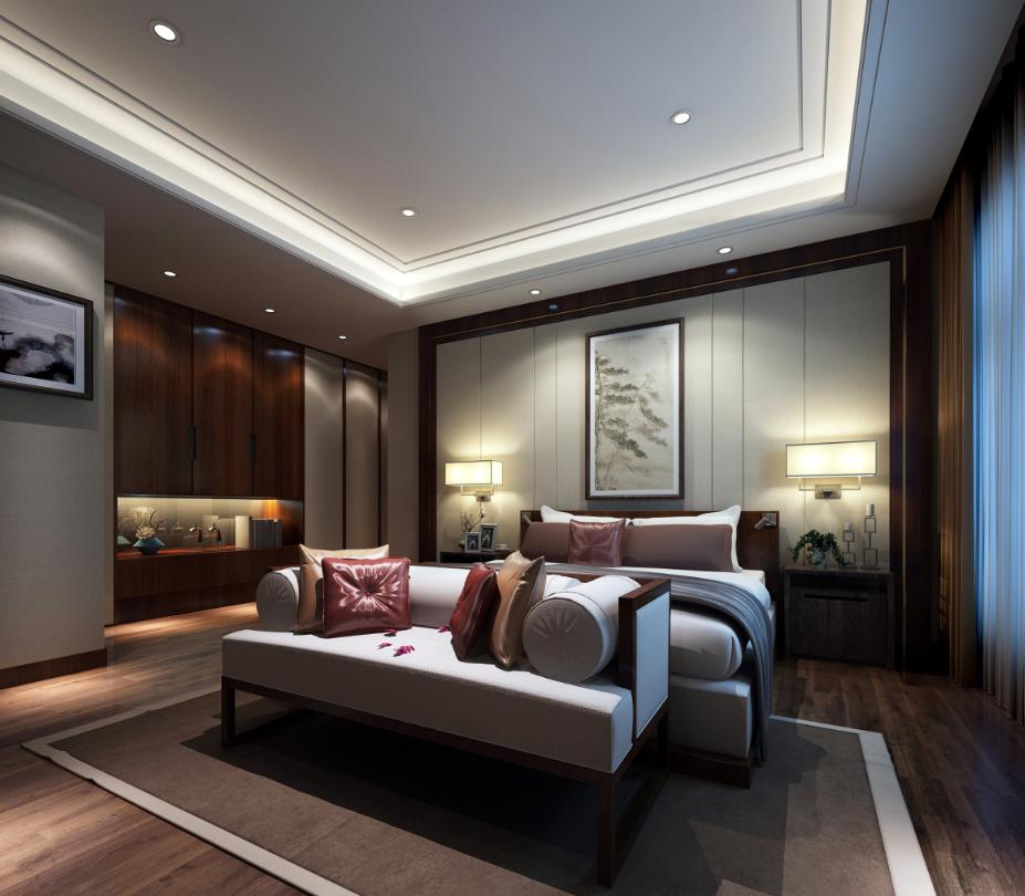 大户型新中式风格卧室每日首存送20