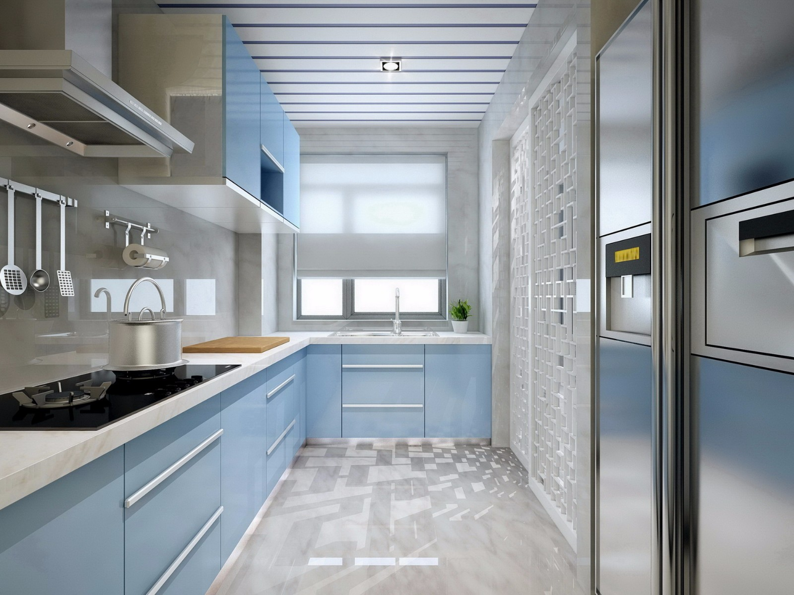 现代中式风格厨房装修效果图