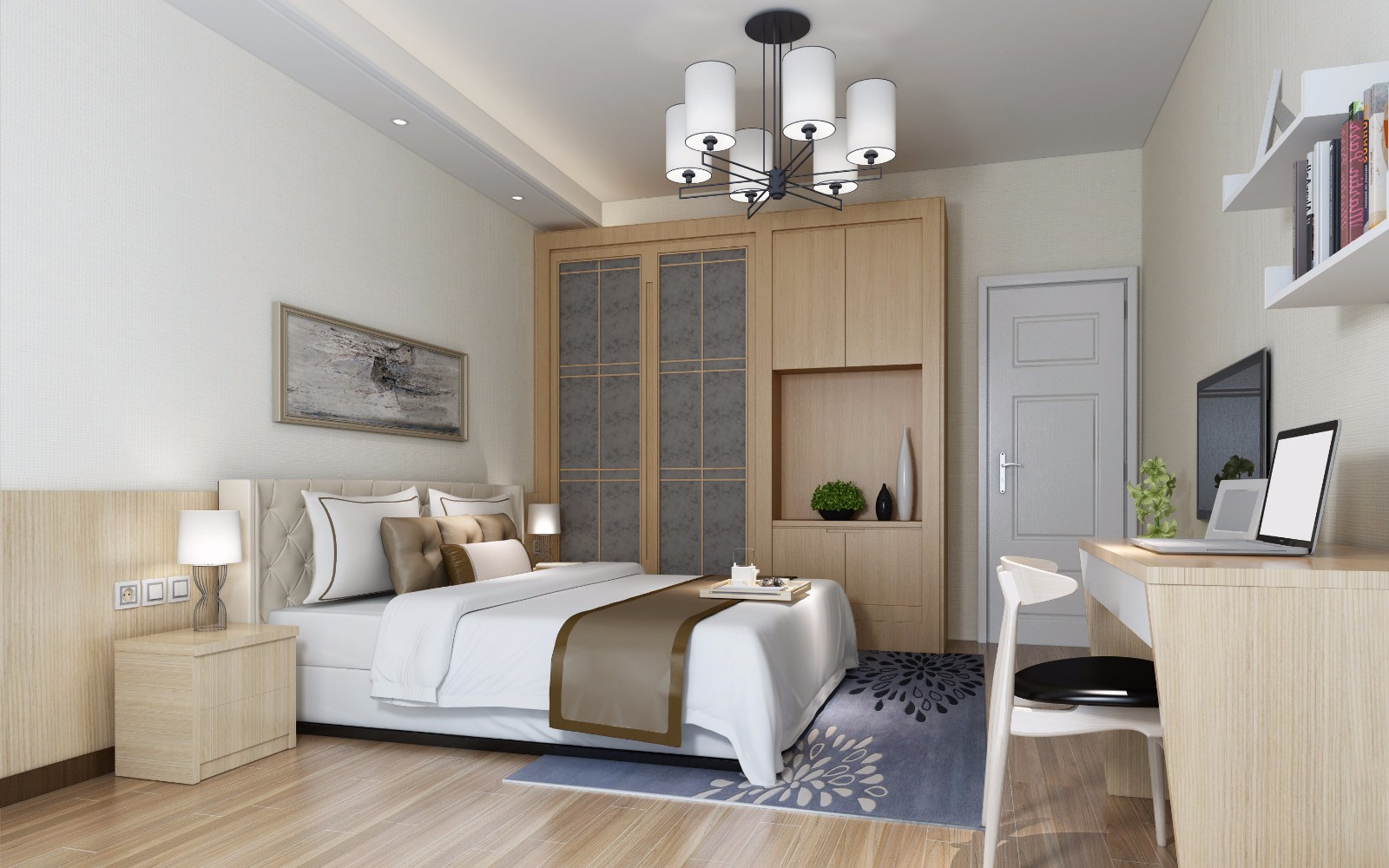 混搭风格两居卧室装修效果图