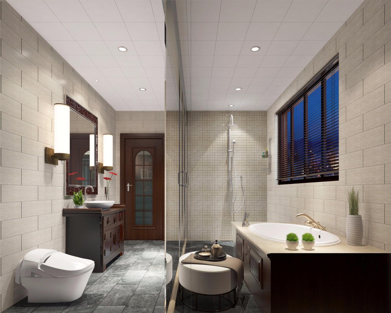 中式风格卫生间装修设计效果图