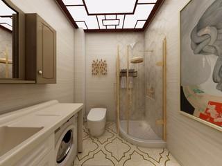 新中式风格卫生间装修设计效果图