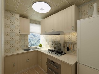 美式田园两居厨房装修效果图