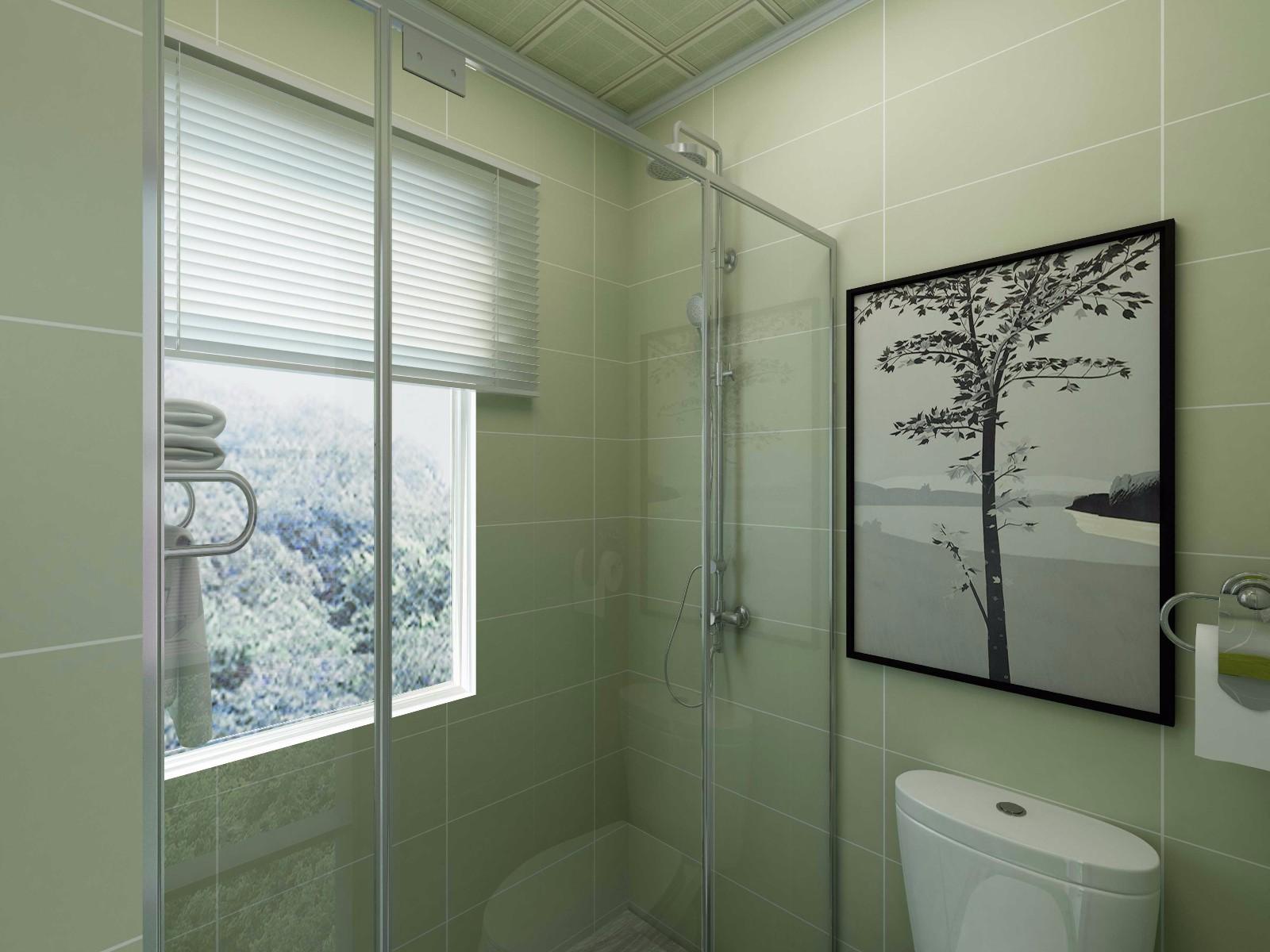 美式田园两居卫生间装修效果图