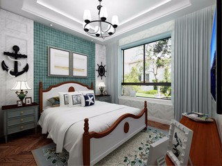 112㎡地中海风格卧室装修效果图