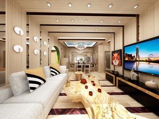 82平混搭风格客厅装修效果图