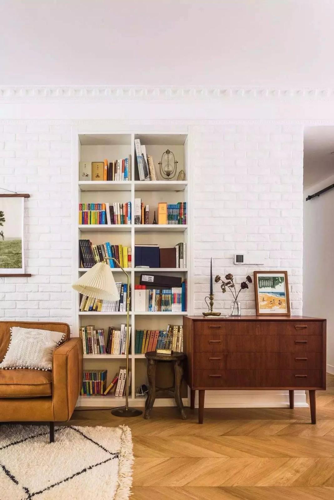 140平北欧风格装修书柜设计图