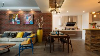 混搭风格两居室客餐厅装修效果图