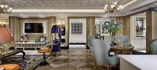 奢华欧式风格客餐厅装修设计效果图