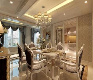 奢华古典欧式风格餐厅装修效果图