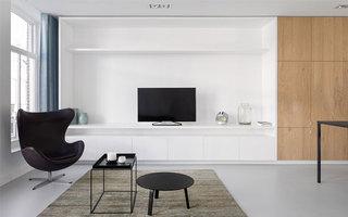 极简风格LOFT公寓装修效果图