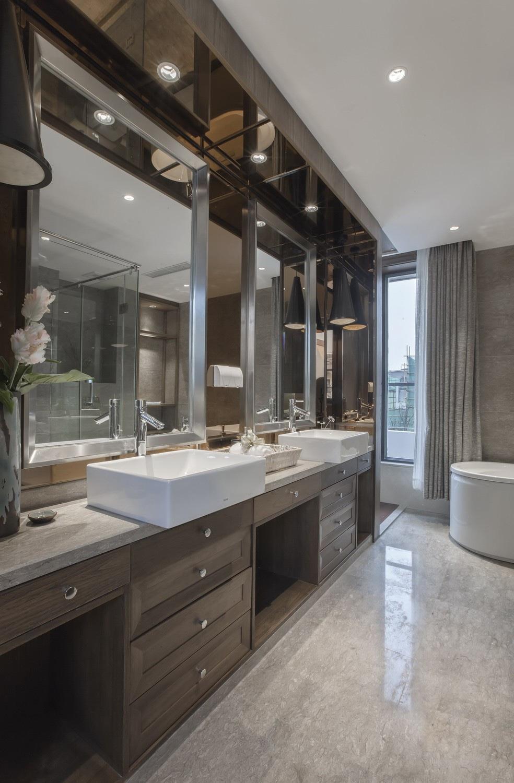 中式风格别墅卫生间装修效果图
