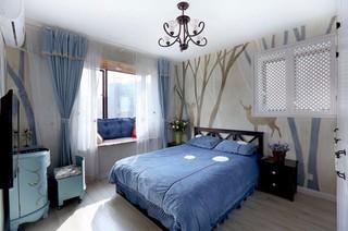 95平地中海风格卧室装修效果图