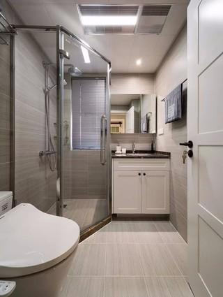 89㎡混搭三居室卫生间装修效果图