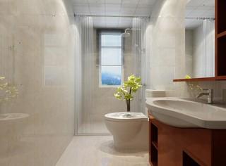 90平新中式风格卫生间装修效果图
