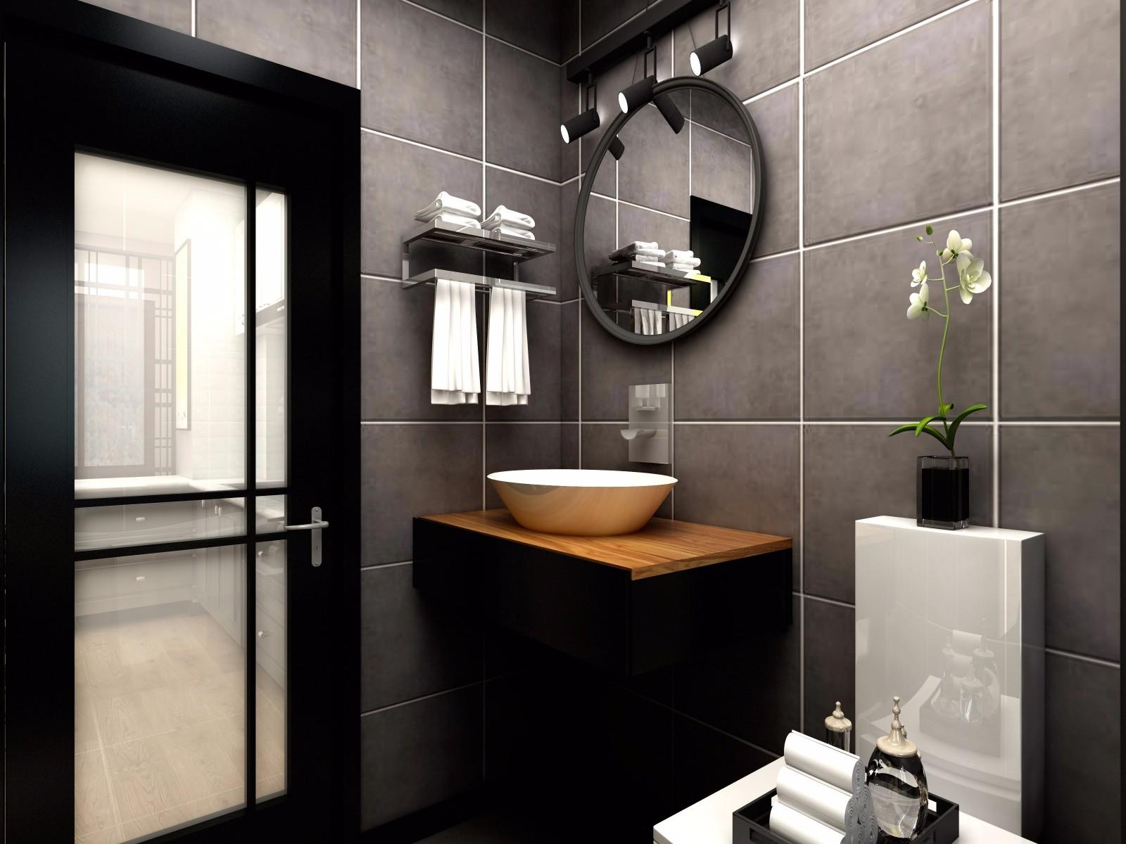 小户型现代风格卫生间装修效果图
