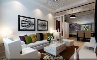 95平现代简约两居室装修效果图